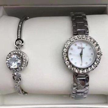 Часы в подарочной упаковке WATCH SET Dior / женские часы / ручные часы / наручные кварцевые часы