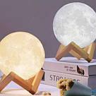"""Детский ночник 3D """"Луна"""" / светильник / лампа / 3D Moon Touch Control 12 см, светильник ночник, фото 7"""