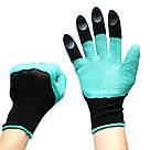 Садовые перчатки с когтями Garden Genie Gloves / Гарден Джени Гловес / перчатки / перчатки для сада и огорода, фото 5