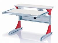 Столы парты Mealux Harvard TG/R (красные ноги)