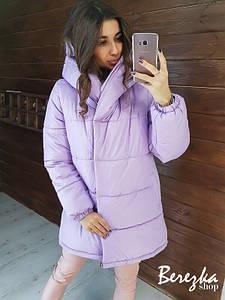 Женская зимняя куртка-одеяло с капюшоном 66ki144