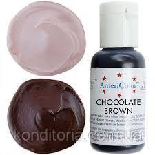 Краситель гелевый Америколор (Americolor)  Шоколадно-коричневый ( Сhocolate Brown) № 104