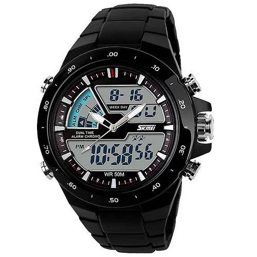 • Оригинал  ! Skmei(Скмей) 1016 SHARK Black | Cпортивные мужские часы !
