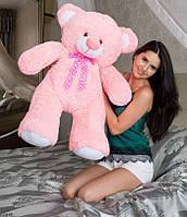 Большой плюшевый мишка Томми 100 см розовый