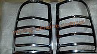 Хром накладки на задние стопы для Mercedes Vito W639 2003-2010