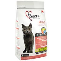 Сухой корм Фест Чойс (1st Choice Indoor Vitality Adult) для котов всех пород с курицей, 5.44 кг