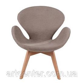 Кресло для ресторана, кресло дизайнерское, кресло для посетителей (СВАН Вуд Армз КОРИЧНЕВЫЙ)