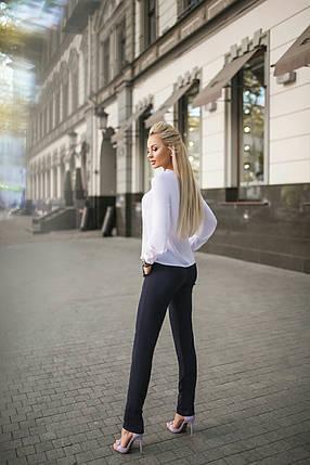 """Женская шифоновая блуза """"Betty"""" с кружевом и длинным рукавом, фото 2"""