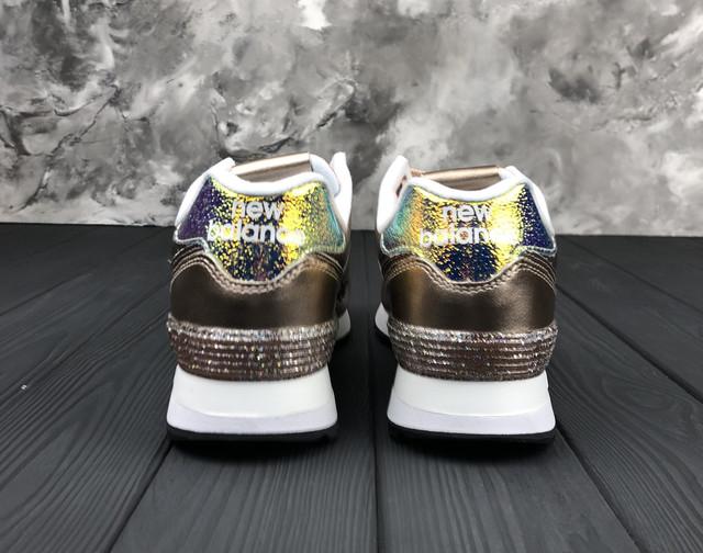 Кроссовки Женские Стильные Золотые New Balance 574 Glitter Punk ... efdd49030bd