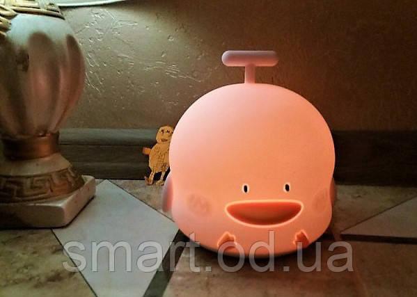 Детский ночник Уточка / светильник / лампа Качечка Розовый, детские светильники ночники