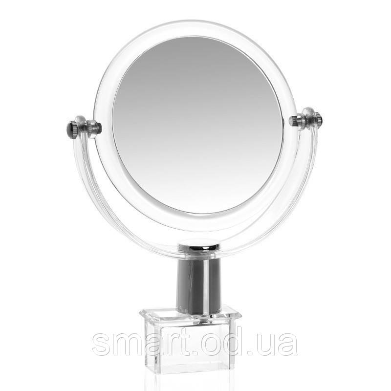 Компактный акриловый органайзер с зеркалом для косметики / подставка для косметики / косметик бокс / Оригинал