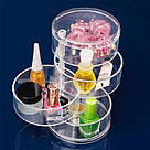 Компактный акриловый поворотный органайзер для косметики / подставка для косметики / косметик бокс / Оригинал, фото 6