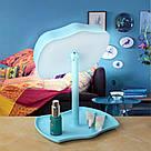 Косметическое зеркало с сенсорным экраном и подсветкой 2 в 1 Mirror Lamps Голубой, фото 4