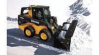 Чистка снега. Мини погрузчик, Трактор JCB 3CX