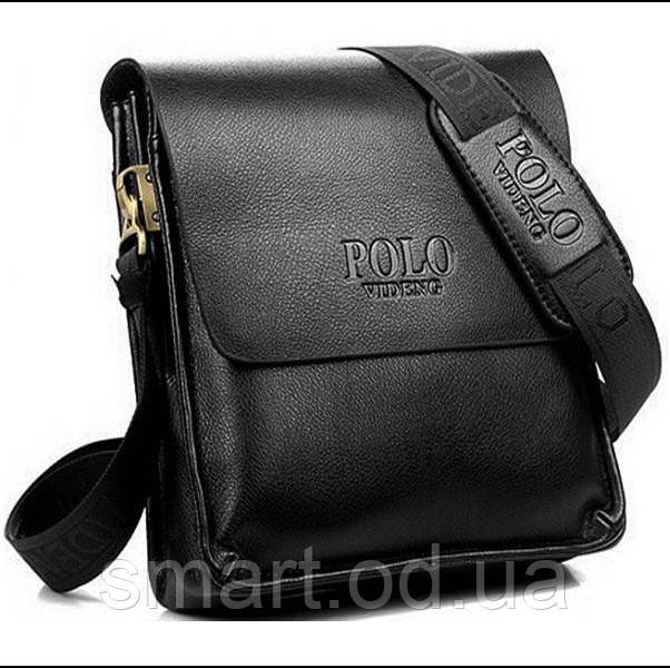 Чоловіча сумка Polo Videng / в стилі Поло / шкіряна сумка / сумка через плече