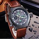 Наручные мужские армейские часы AMST Watch / спортивные наручные часы в стиле АМСТ, Коричневый, фото 3