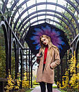 Ветрозащитный зонт наоборот / Антизонт /Up-Brella Оригинал+ПОДАРОК! Цветы, фото 3