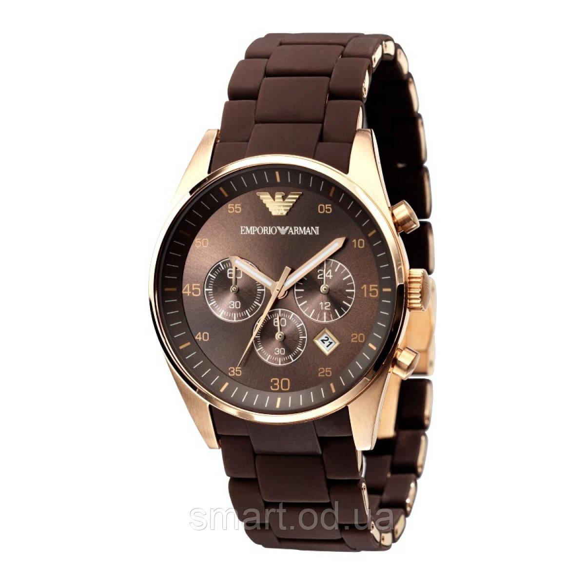 Наручные часы Emporio Armani / мужские часы / Стильные часы в стиле Эмпорио Армани Коричневый, часы
