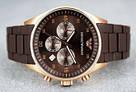 Наручные часы Emporio Armani / мужские часы / Стильные часы в стиле Эмпорио Армани Коричневый, часы, фото 5