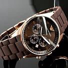 Наручные часы Emporio Armani / мужские часы / Стильные часы в стиле Эмпорио Армани Коричневый, часы, фото 6