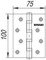 Петля универсальная FUARO 4BB 100x75x2,5 PB - латунь
