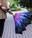 Ветрозащитный зонт наоборот / Антизонт /Up-Brella Оригинал+ПОДАРОК! Красный цветок, фото 4