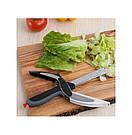 Универсальные кухонные ножницы Clever cutter / нож-ножницы 3 в 1 / умные ножницы, фото 5