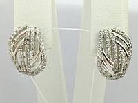 Серебряные серьги с фианитами. Артикул СВ913С, фото 1