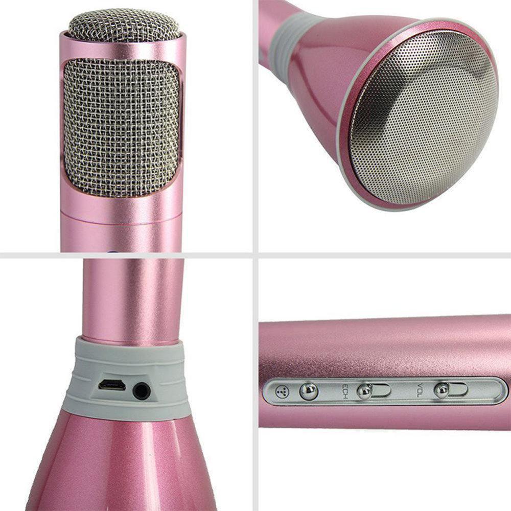 Беспроводной микрофон К-068 bluetooth для караоке / Tuxun k068 с динамиком