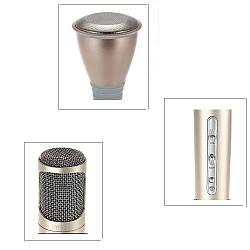 Беспроводной микрофон К-068 bluetooth для караоке / Tuxun k068 с динамиком Розовый, Bluetooth микрофон