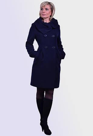 Пальто из дорогой кашемировой ткани с ассиметричным воротником,