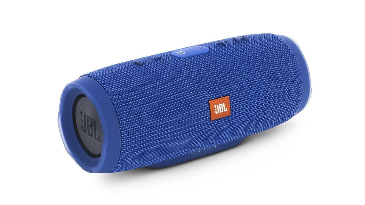 Портативная беспроводная bluetooth колонка JBL Charge 3 реплика c PowerBank в подарок, Синяя