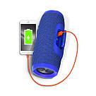 Портативная беспроводная bluetooth колонка JBL Charge 3 реплика c PowerBank в подарок, Синяя, фото 4