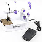 Мини швейная машина 4 в 1 Ming Li Sewing Machine с блоком питания, фото 3