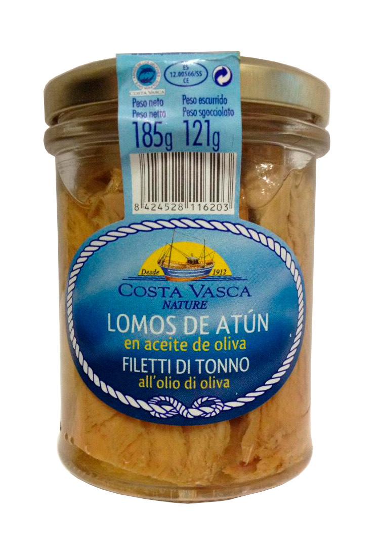 Тунец (филе) в оливковом масле Costa Vasca Lomos de Atun 185/121г