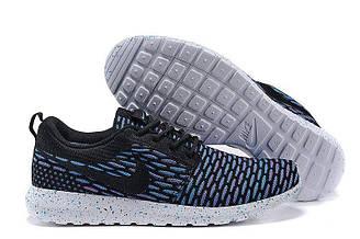 Мужские кроссовки Nike Roshe Run Flyknit London Blue| Мужские кроссовки найк роше рун синие оригинал 41