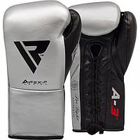 Боксерские перчатки RDX Leather Pro A3 Silver 10 ун, фото 1