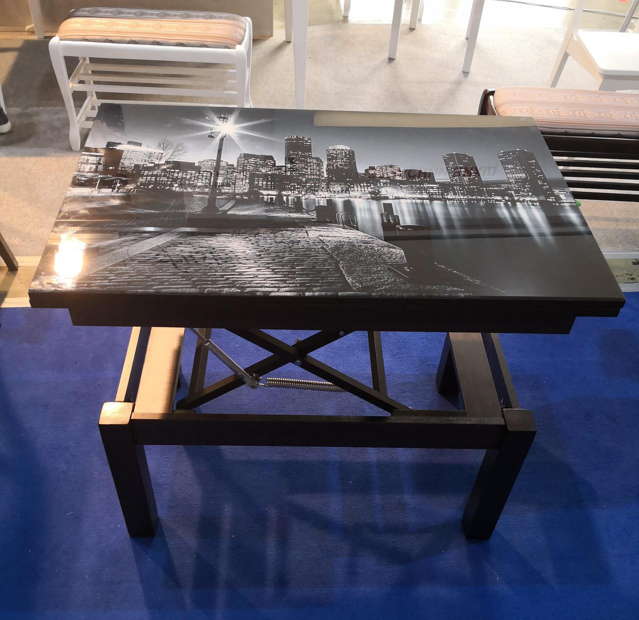 Стол транформер Флай венге стекло 04-123 (город)