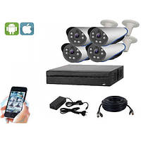 Комплект видеонаблюдения UDC AHD-Kit 2.4S. Набор на 4 камеры для офиса, дома и дачи