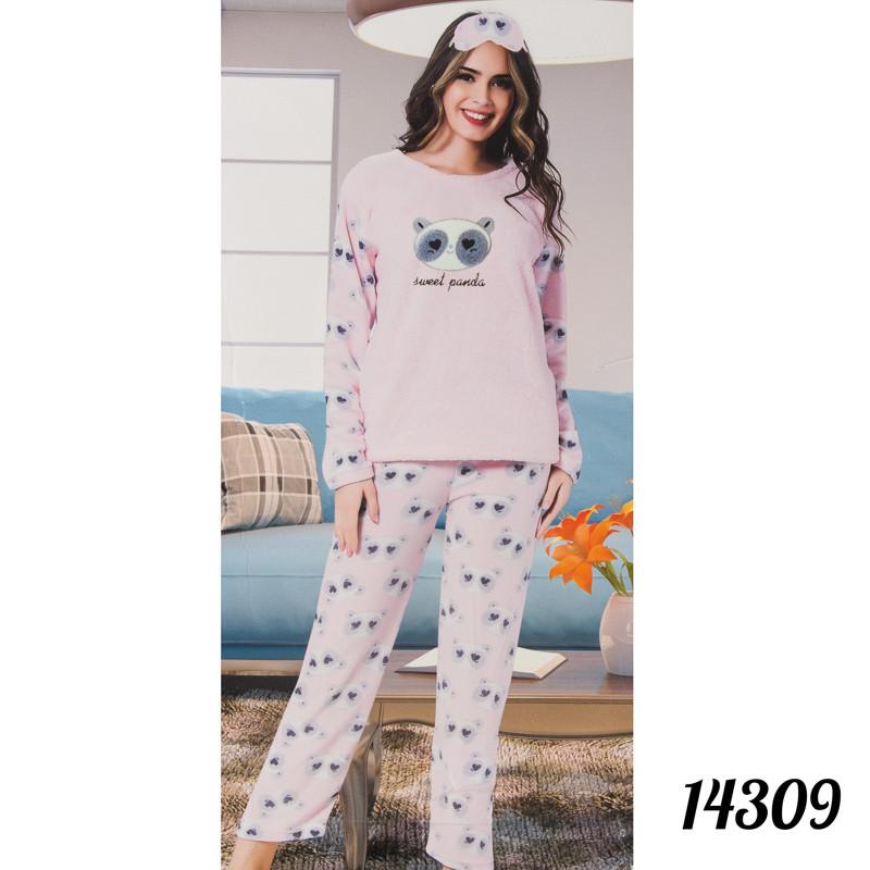 "Зимняя пижама женская Soft ""Панда"" Fancy Турция 14309"
