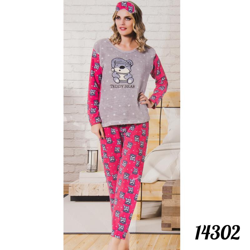 """Красивая пижама женская """"Soft"""" с рисунком """"Мишка"""" Fancy Турция 14302"""