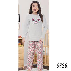 Белая пижама детская для девочек на байке Dalmina Турция 9736