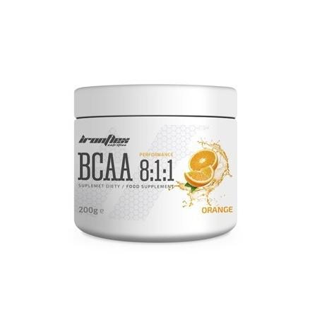 Аминокислоты IronFlex - BCAA 8:1:1 (200 грамм) orange/апельсин