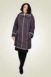 Модная, современная, украшенная изящной стежкой, демисезонная куртка