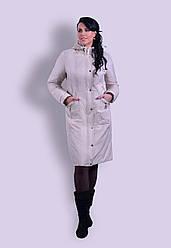 Демисезонное пальто из плащевки Разные цвета