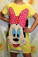 """Ночная сорочка трикотаж, рубашка хлопок """"Мики Маус"""", размеры 44-52. Ночные сорочки оптом и в розницу."""