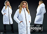Женское стеганное пальто плащевка Синтепон 200 Размеры  50-52, 54-56, 58-60, фото 3
