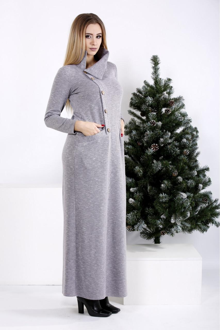 Жіноче довге трикотажне плаття в підлогу максі розміри: 42-74