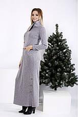 Жіноче довге трикотажне плаття в підлогу максі розміри: 42-74, фото 3
