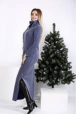 Жіноче довге трикотажне плаття в підлогу максі розміри: 42-74, фото 2